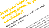 Does your internal brand speak to your candidates?